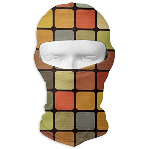 (O-X_X-O Rubiks Cube Balaclava Windproof & Dust Protection Motorcycle Helmet Liner Soft and Breathable Face Mask Warmer Balaclava Hood - Prefect)