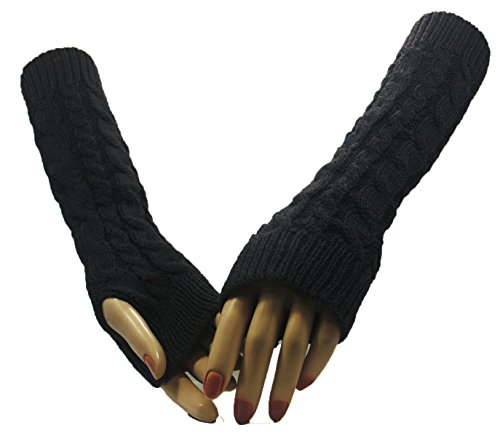 Grey Twin Cross Arm Warmer Gloves