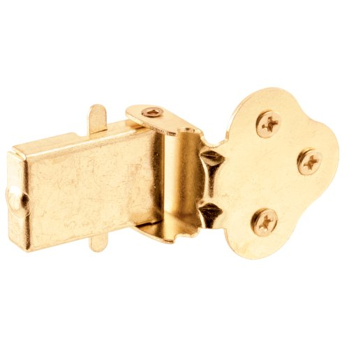 Prime-Line Products U 9926 Double Hung Wood Window Flip Latch, Brass Plated ()