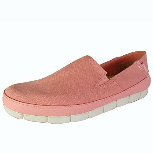 Crocs Womens Stretch Sole Slip On Loafer Shoes, Melon/Stucco, US 11