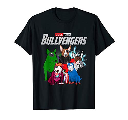 Funny Bull Terrier Dog Lover Gift Bullvengers For Women Men T-Shirt