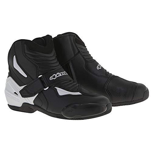 (Alpinestars SMX-1R Men's Street Motorcycle Boots - Black/White / 44)