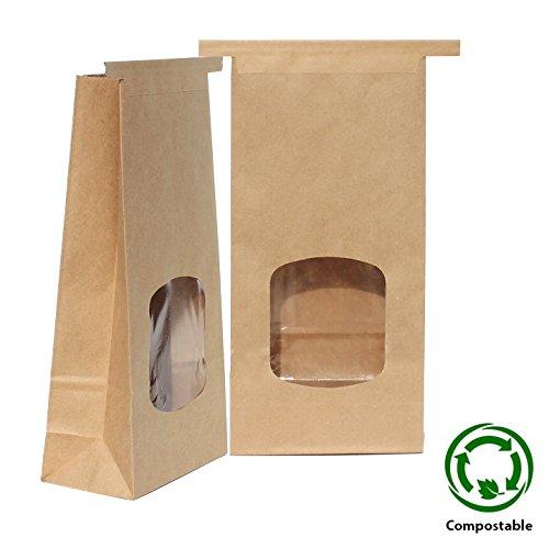 Eco Friendly Kraft Tin Tie Window Coffee Bags - 1