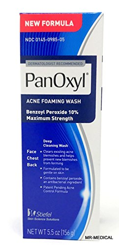- PanOxyl Foaming Acne Wash Maximum Strength 5.5 oz
