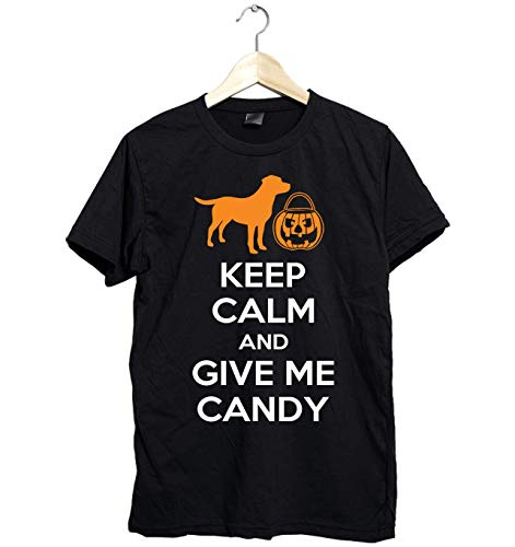 Amazing Labrador shirt - Keep Calm and Give Me Candy - Funny Gift for Labrador Lovers this Halloween- Unisex Style Size Up to 6XL - Fast -