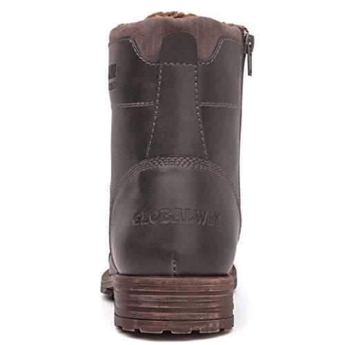 Stivali Da Combattimento Alla Caviglia Invernale Con Fibbia Alla Caviglia Da Uomo Global Win Mens Global Grey1710