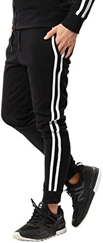 スウェットパンツ メンズ ジョガーパンツ ジャージ スリム 細身 無地 サイドライン 迷彩