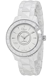 Christian Dior VIII Automatic White Ceramic and Stainless Steel Ladies Watch CD1245E3C002