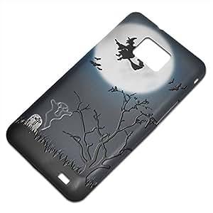 Halloween 10005, Bruja, Embossed Caso Carcasa Funda Duro Gel TPU Protección Case Cover, Diseño con Textura en Relieve para Samsung S2 i9100 i9200.