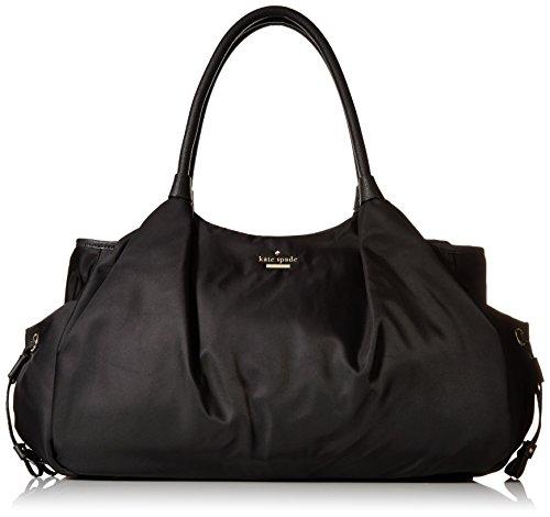 kate spade new york Classic Nylon Stevie Baby Shoulder Bag, Black, One Size (Kate Spade Baby Backpack)