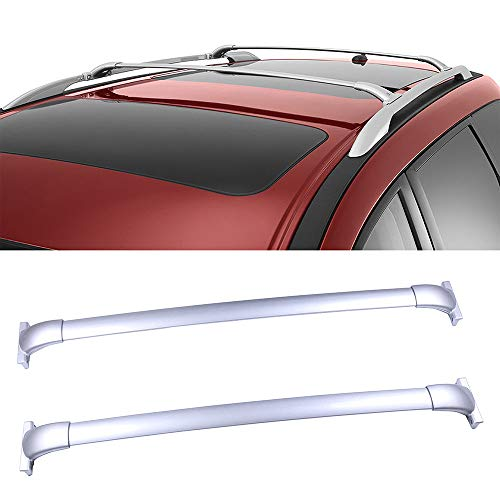 OCPTY Roof Rack Cross Bar Cargo Carrier Fit for 2013-2017 Nissan Pathfinder 3.5L Silver Aluminum Roof Rack Crossbars