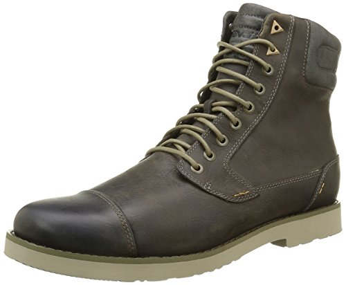 Teva Mens M Durban Tall-leather Boot Dark Olive