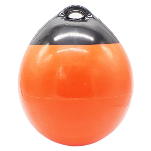 X-Haibei 1 Boat Fender Ball Round Anchor Buoy, Dock Bumper Ball Inflatable Vinyl A-Series Shield Protection Marine Mooring Buoy Orange, A29(D11.8H13.8 INCH)