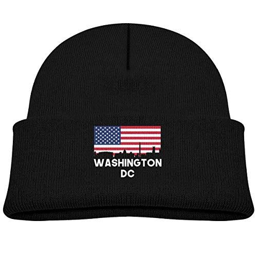 Washington DC American Flag Skull Hats Beanie Cap 0-3 Old Infant Black ()