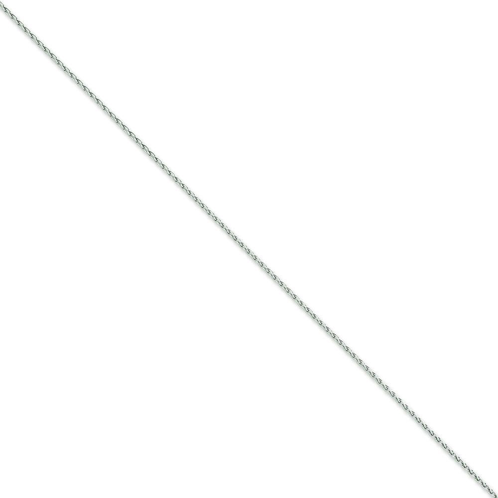 14K White Gold 1.5mm Round Wheat Chain Anklet Jewelry 9