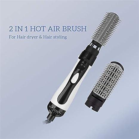2 in 1 Hair Styling Asciuga Arricciacapelli Elettrico Ioni Ceramica Hot Spazzola