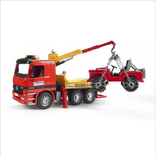 Bruder Action Vehicle Tow Truck carrying Jeep with Crane and Accessories (Actros Truck Accessories compare prices)