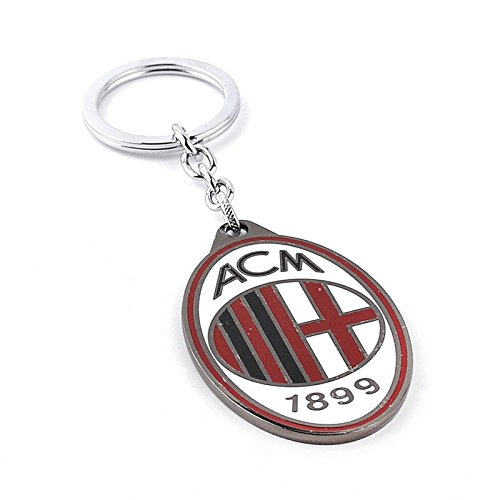 (Official Soccer Team Football Club AC Milan Metal Keychain, Keyring, Pendant)