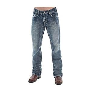 Western Denim Jeans Mens Steel Bootcut Relaxed Med Wash MSTEEL