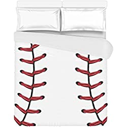 """Love Nature Custom Bedding Concentric Baseball Fashion Duvet Cover 86"""" X 70""""(One Side Printed) Queen Duvet Cover, King Duvet Cover, Full Duvet Cover"""