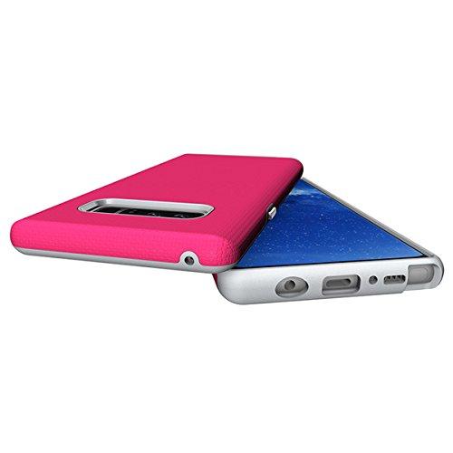CarcasaSamsung Galaxy Note 8, LifeePro Funda de la Caja del Teléfono a Prueba de Golpes TPU + PC Armadura Combinada híbrida Caso de Alto Impacto Durable Phone Defender (Rosa Caliente) Rosa Caliente