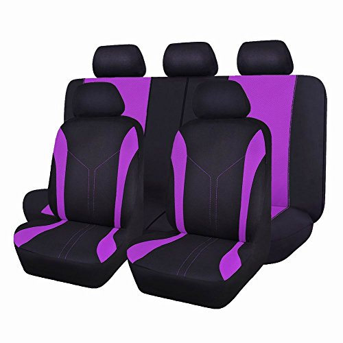 purple and green car seat covers - 6