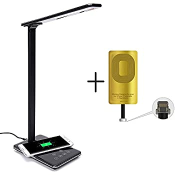 Led Desk Lamp Qi Wireless Charger Pad With Usb Charging
