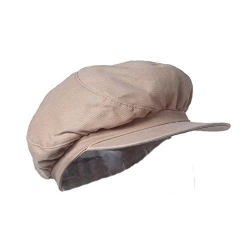 Peach Lightweight Organic Cotton Newsboy Cabbie Hat - Irish Ivy (Scala Classic Hat)
