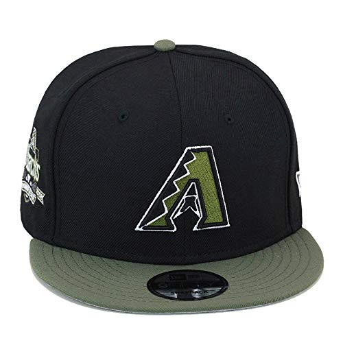 (New Era 9fifty Arizona Diamondbacks Snapback Hat Cap Black/Olive)