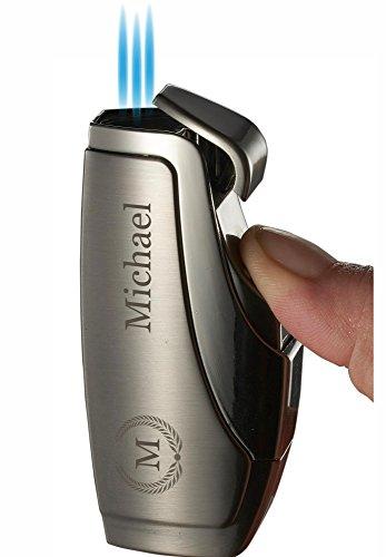 Personalized Visol Rio Gunmetal Triple Torch Flame Cigar Lighter