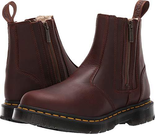 - Dr. Martens Women's 2976 Alyson W/ZIPS Snow Boot, Dark Brown, 6 Medium UK (8 US)