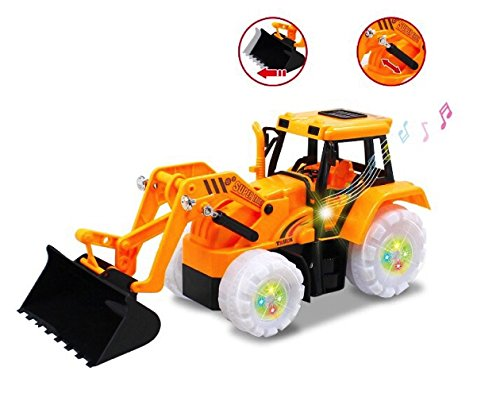 Electric Bulldozer Bump   Go Construction Building Tractor With Lights   Sound Electric Bulldozer Truck Vehicle Christmas Gift Toy For Boys Ages 3  Yrs