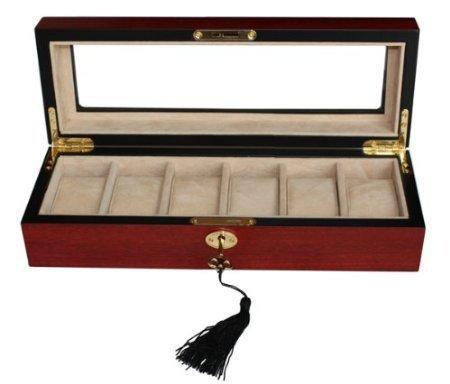 Sodynee® Elegant 6 Piece Wood Watch Box Display Case and St