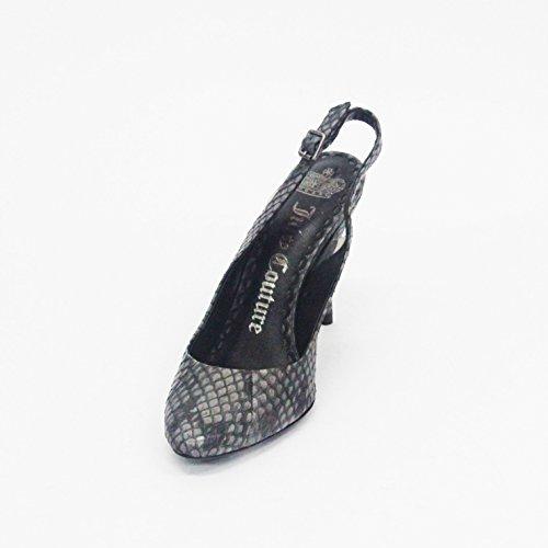 Juicy Couture Sandalias de moda tacón con piedras de talla 3,5para las mujeres Dorado - dorado
