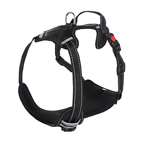 Akarden Dog Harness No-Pull Pet Harness, Breathable Adjustable Pet Vest, Metal Leash Hooks and Easy Control Handle,Suit for Small Medium Large Dogs