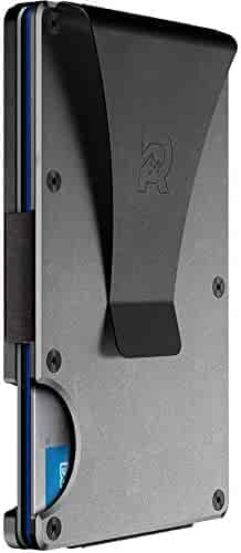 The Ridge Authentic Minimalist Metal RFID Blocking Wallet | Money Clip | Slim Wallet for Men | Aluminum Metal Wallet