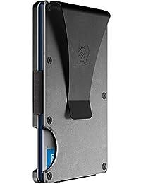 The Ridge Wallet Authentic | Minimalist Metal RFID Blocking Wallet - Money Clip (Gunmetal) | Wallet for Men | RFID Minimalist Wallet, Slim Wallet