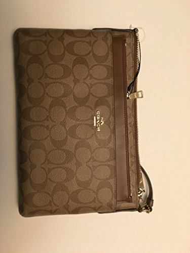 COACH East/West Crossbody with Pop Up Pouch in Signature, F58316