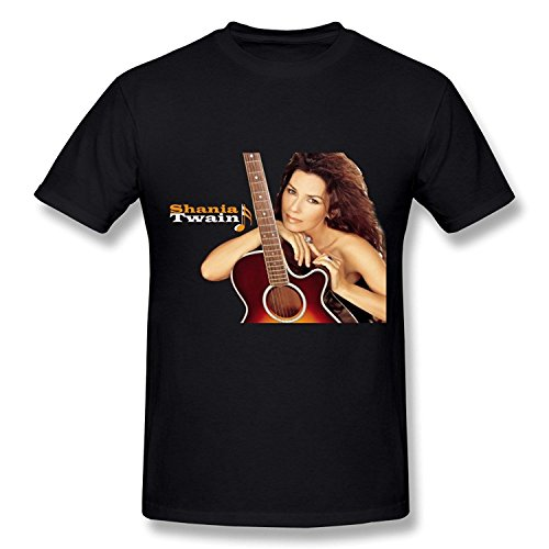 YX Shania Twain Poster T Shirt For Men ForestGreen XL ()