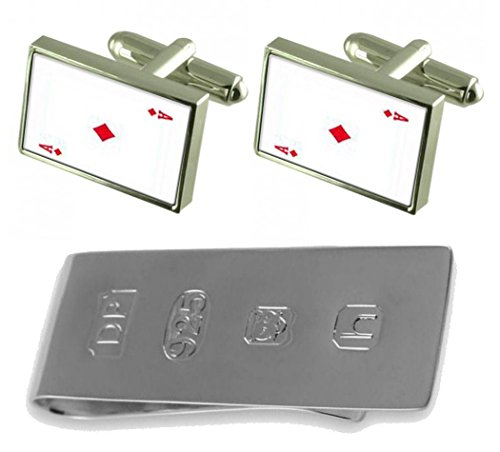 Card James Ace Money amp; Bond Playing Diamond Clip Cufflinks axq4zw