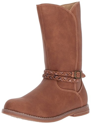 Hanna Andersson Kari Girl's Glitter Riding Boot Fashion, Brown, 13 M US Little Kid