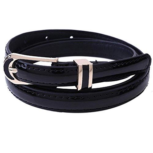 "Clearance!Women's Belt,kaifongfu New Fashion Vintage accessories Casual Belt For Women Thin Leisure Leather Belt (102CM/40.1"", Black) from kaifongfu Apparel"