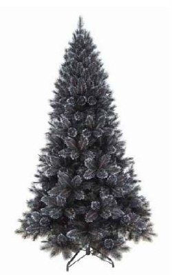 artificial black and silver pre lit christmas tree 270cm - Black And Silver Christmas Tree