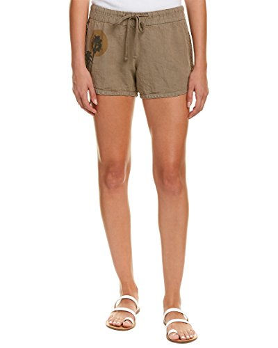 James Perse Womens Printed Linen Dolphin Short, 0 ()