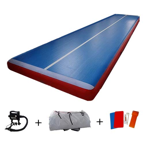 Darget Air Track Tumbling Mat Inflatable Gymnastic Floor with Electric Pump for Home Use, Cheerleading, Water, Park and Beach(39'x6.6'x8, 12m x 2m x 0.2m)