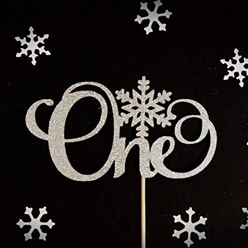 Winter Onederland Cake Topper, 1st Birthday Topper, Snowflake Cake Topper, Winter Onederland Party b