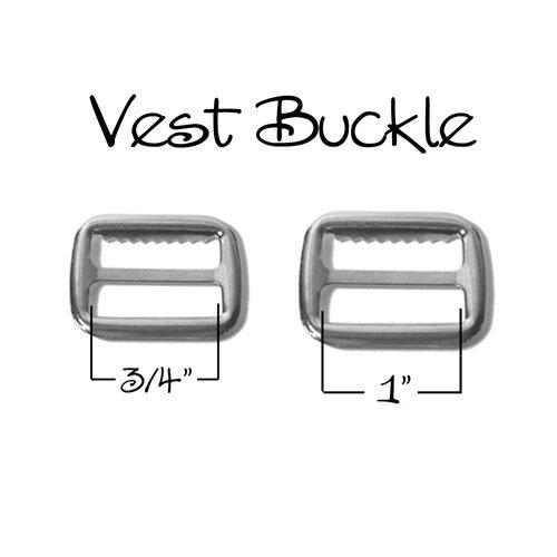 Vest Buckle Slide Adjuster Nickel product image