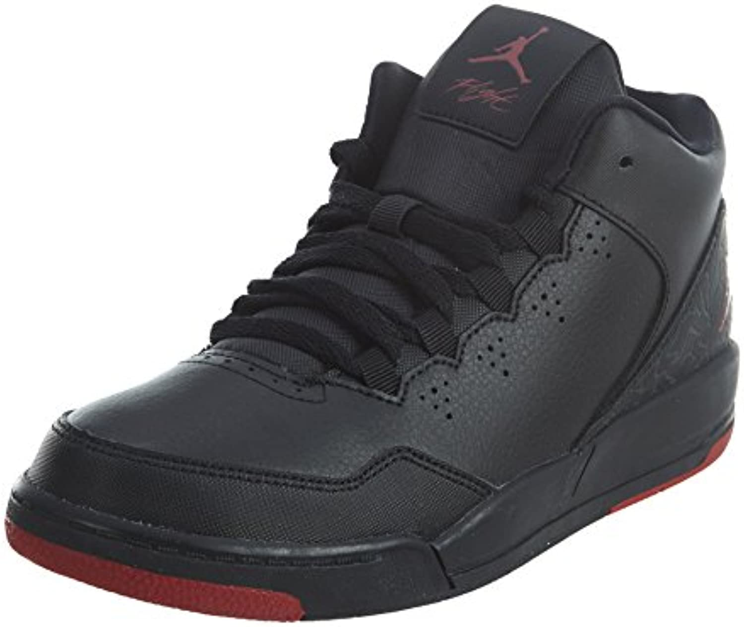 Boy's Jordan Flight Origin 2 Shoe Basketball Shoe 2 (PS) Black/Gym Red-Gym Red 1Y 9254cb