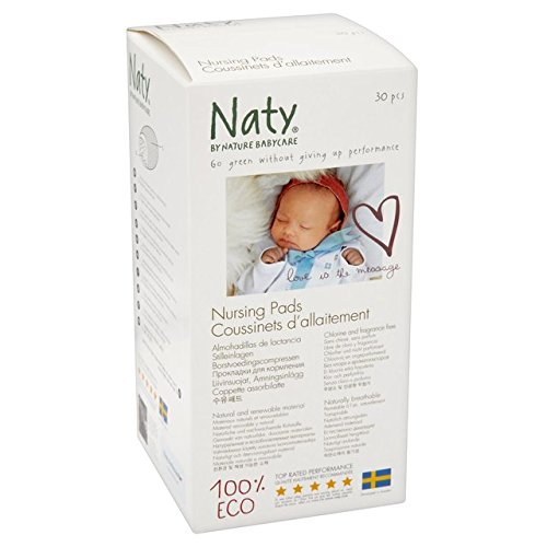Naty Bio Breast Pads 30 per pack Naty by Nature Babycare