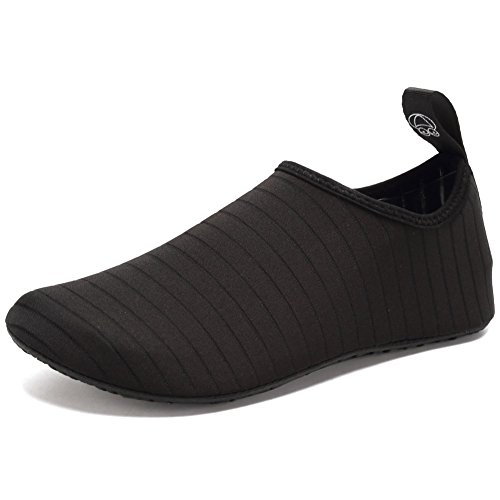 CIOR Water Shoes Barefoot Quick-Dry Aqua Yoga Socks Slip-On for Men Women KidsSX-Black-36/37